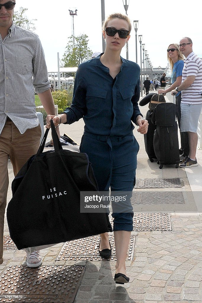 Sarah Gadon is seen leaving the Venice Airport during The 70th Venice International Film Festival on September 1, 2013 in Venice, Italy.