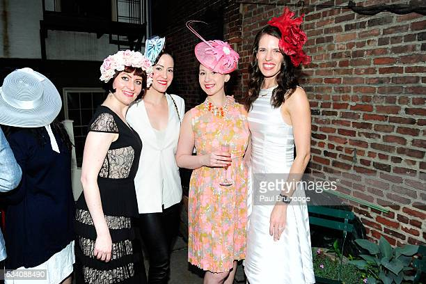 Sarah GoetheJones guest Leckie Roberts and Jaime Wilsnack attend Historic Royal Palaces Patrons Secret Garden Party at Merchant's House Museum on May...