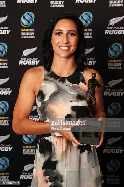 Sarah Goss Black Ferns Sevens Player of the Year at the ASB Rugby Awards at SkyCity Convention Centre on December 15 2016 in Auckland New Zealand