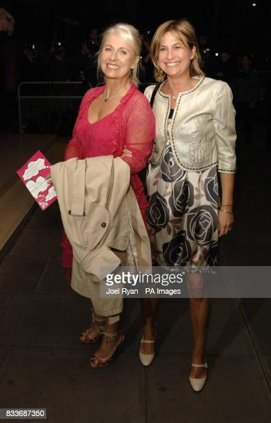 Sarah Green and Emma Forbes arrive for the LaurentPerrier Pink Party in aid of Help A London Child at the Sanderson Hotel in central London