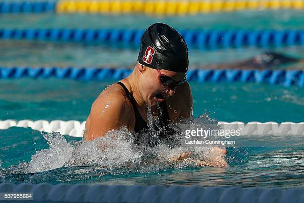 Sarah Haase swims in the final of the 100m breaststroke at George F Haines International Swim Center on June 3 2016 in Santa Clara California