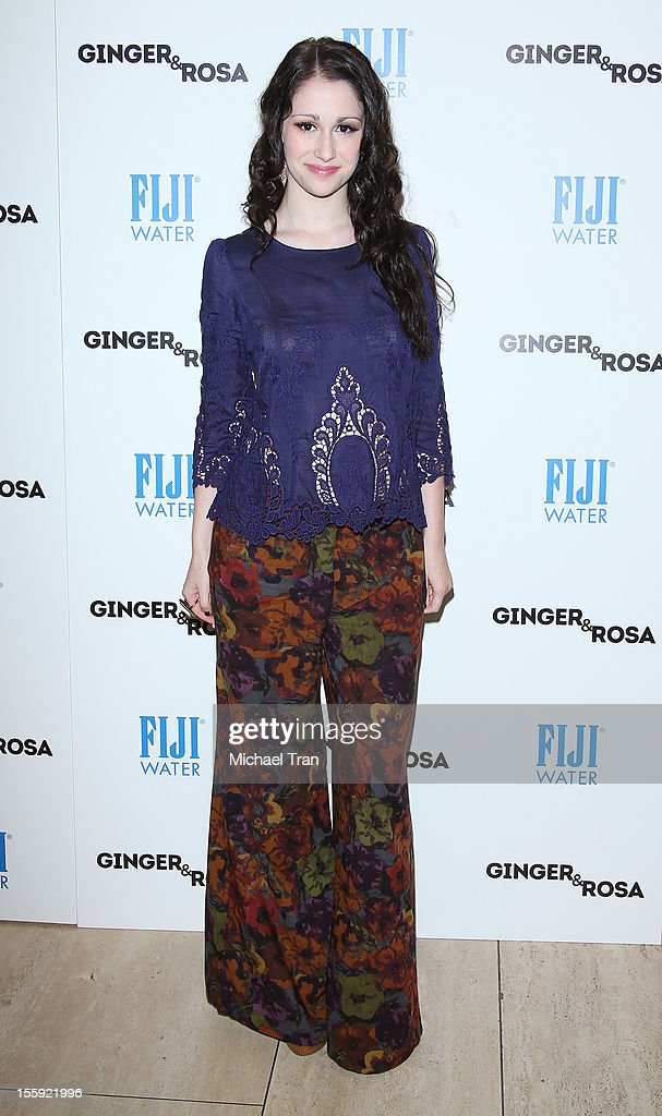 Sarah Hackett arrives at the Los Angeles special screening of 'Ginger & Rosa' held at The Paley Center for Media on November 8, 2012 in Beverly Hills, California.