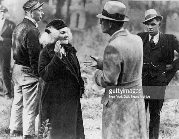 Sarah Hamilton at the funeral of her son John Hamilton the last member of the John Dillinger gang