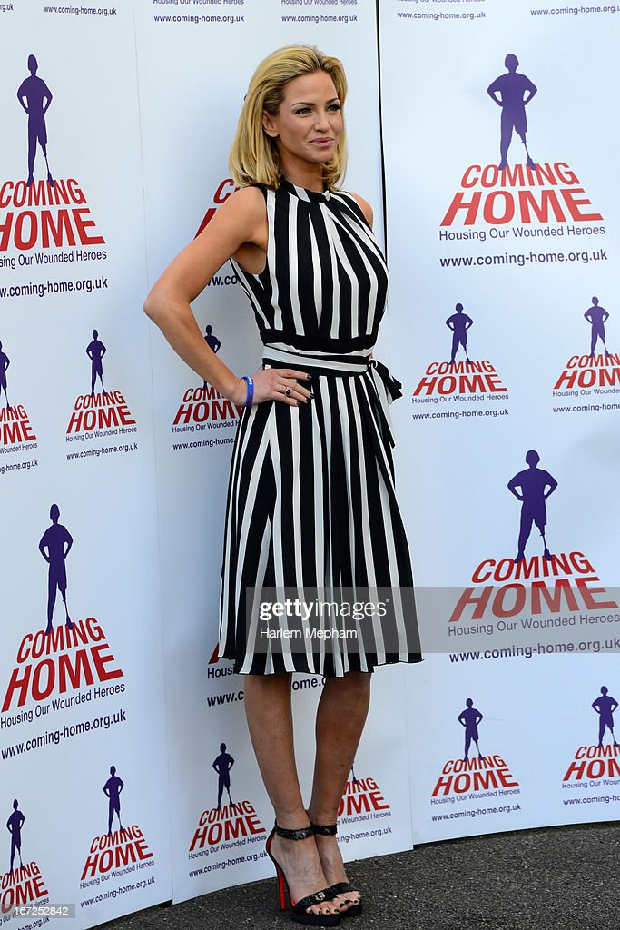 Sarah Harding, Ambassador for armed forces charity Coming Home, sighting on April 23, 2013 in London, England.