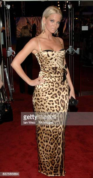 Sarah Harding arrives for the World Premiere and Royal Performance of the new James Bond film Casino Royale at the Odeon in Leicester Square central...