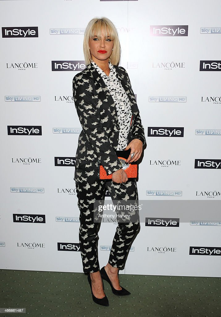 Sarah Harding attends InStyle magazine's The Best of British Talent pre-BAFTA party at Dartmouth House on February 4, 2014 in London, England.