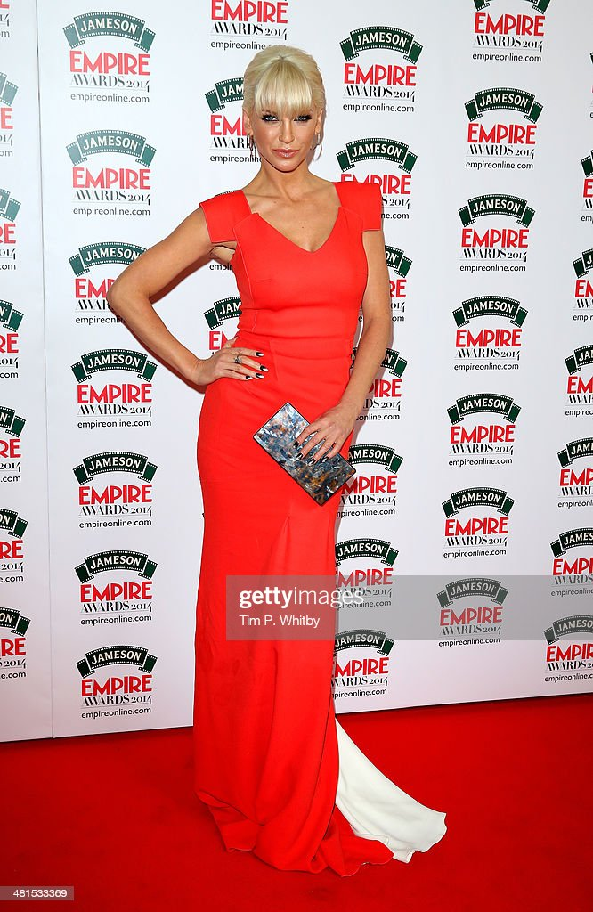 Sarah Harding attends the Jameson Empire Awards 2014 at the Grosvenor House Hotel on March 30, 2014 in London, England. Regarded as a relaxed end to the awards show season, the Jameson Empire Awards celebrate the film industry's success stories of the year with winners being voted for entirely by members of the public. Visit empireonline.com/awards2014 for more information.