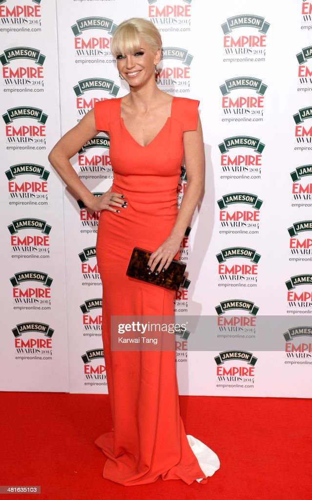 <a gi-track='captionPersonalityLinkClicked' href=/galleries/search?phrase=Sarah+Harding&family=editorial&specificpeople=202916 ng-click='$event.stopPropagation()'>Sarah Harding</a> attends the Jameson Empire Film Awards at Grosvenor House on March 30, 2014 in London, England.