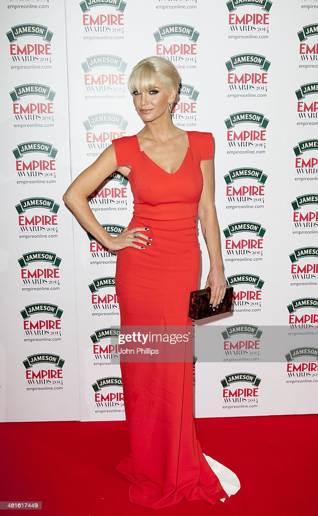 Sarah Harding attends the Jameson Empire Film Awards at The Grosvenor House Hotel on March 30, 2014 in London, England.