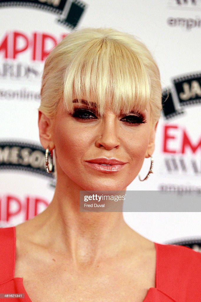 <a gi-track='captionPersonalityLinkClicked' href=/galleries/search?phrase=Sarah+Harding&family=editorial&specificpeople=202916 ng-click='$event.stopPropagation()'>Sarah Harding</a> attends the Jameson Empire Film Awards at The Grosvenor House Hotel on March 30, 2014 in London, England.