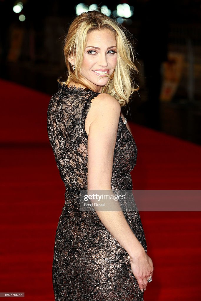 Sarah Harding attends the premiere of 'Run For Your Wife' at Odeon Leicester Square on February 5, 2013 in London, England.