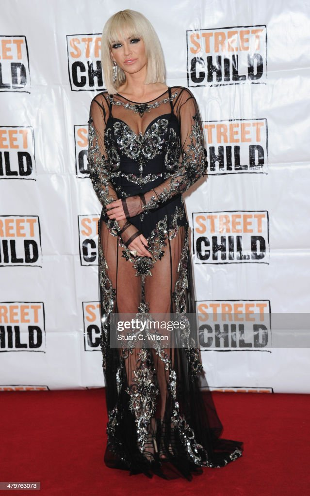 <a gi-track='captionPersonalityLinkClicked' href=/galleries/search?phrase=Sarah+Harding&family=editorial&specificpeople=202916 ng-click='$event.stopPropagation()'>Sarah Harding</a> attends the Street Child 5th anniversary party at Kensington Palace on March 20, 2014 in London, England.