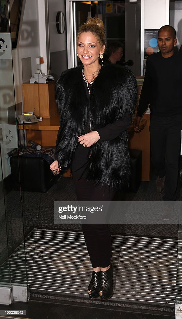 Sarah Harding from Girls Aloud seen at BBC Radio One on November 12, 2012 in London, England.