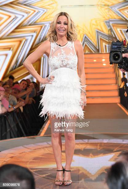 Sarah Harding is crowned the winner of the Celebrity Big Brother Final at Elstree Studios on August 25 2017 in Borehamwood England