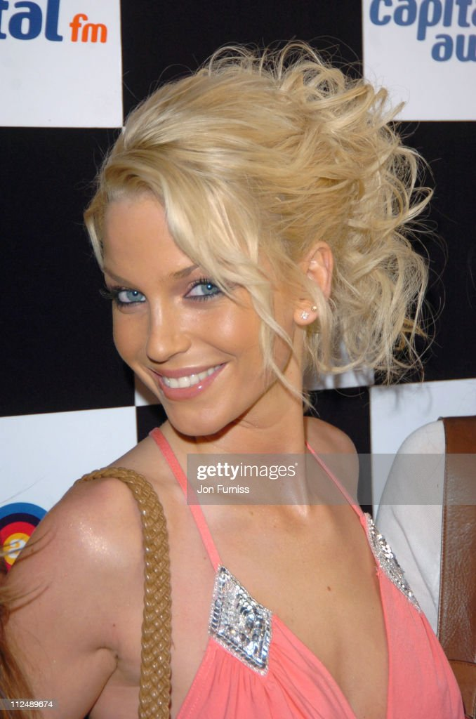 <a gi-track='captionPersonalityLinkClicked' href=/galleries/search?phrase=Sarah+Harding&family=editorial&specificpeople=202916 ng-click='$event.stopPropagation()'>Sarah Harding</a> of <a gi-track='captionPersonalityLinkClicked' href=/galleries/search?phrase=Girls+Aloud&family=editorial&specificpeople=212984 ng-click='$event.stopPropagation()'>Girls Aloud</a> during The 2005 95.8 Capital FM Awards - Inside Arrivals at Royal Lancaster Hotel in London, Great Britain.