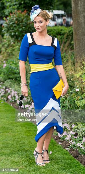 Sarah Harding on day 5 of Royal Ascot at Ascot Racecourse on June 20 2015 in Ascot England
