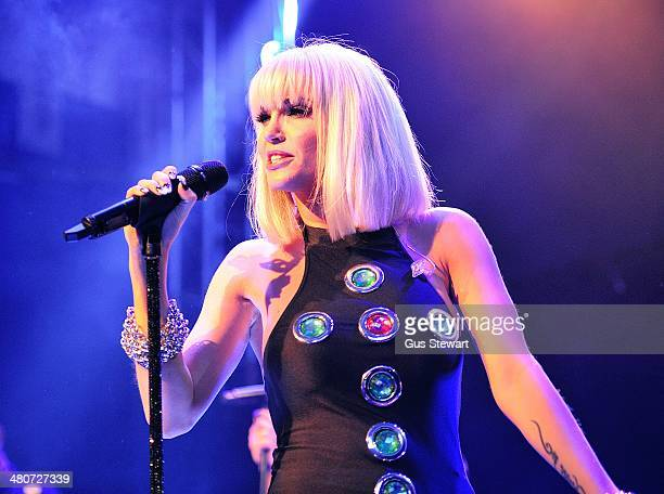 Sarah Harding performs on stage at O2 Islington Academy on March 26 2014 in London United Kingdom