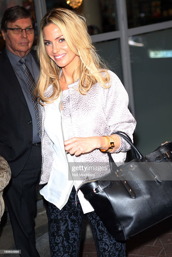 <a gi-track='captionPersonalityLinkClicked' href=/galleries/search?phrase=Sarah+Harding&family=editorial&specificpeople=202916 ng-click='$event.stopPropagation()'>Sarah Harding</a> seen arriving at The Soho Hotel on February 4, 2013 in London, England.