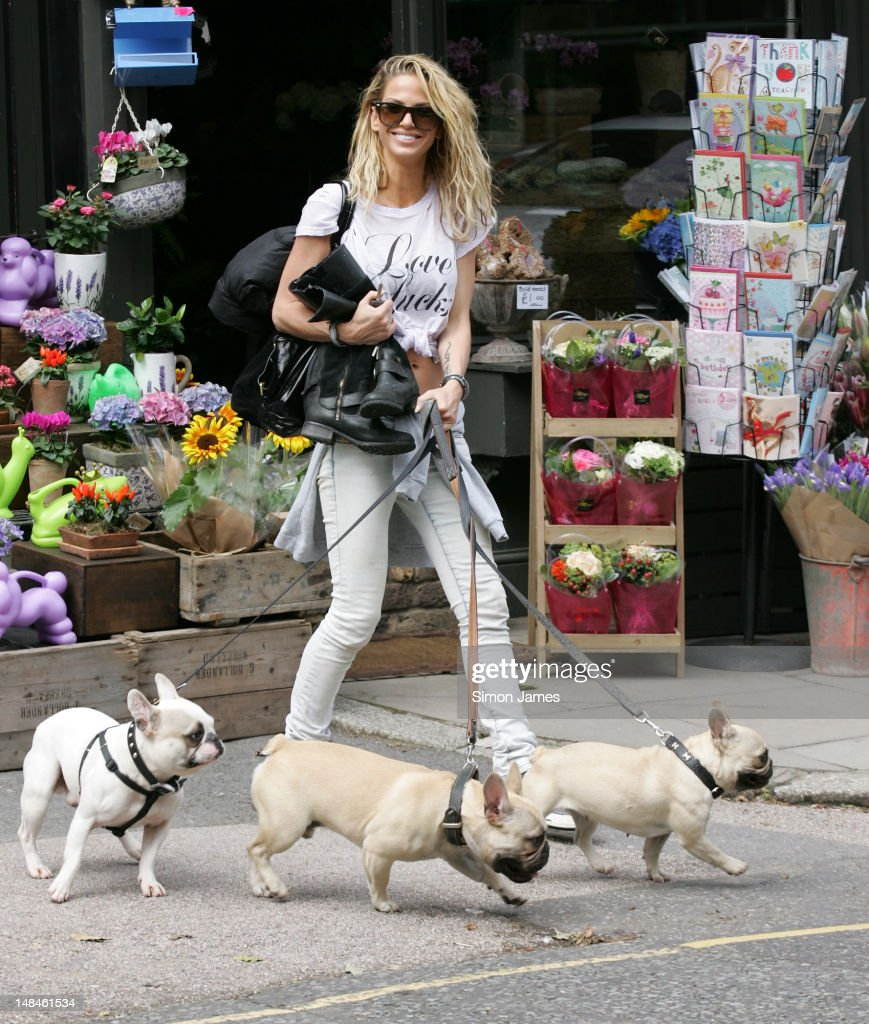 Sarah Harding sighted in Primrose Hill on July 17, 2012 in London, England.
