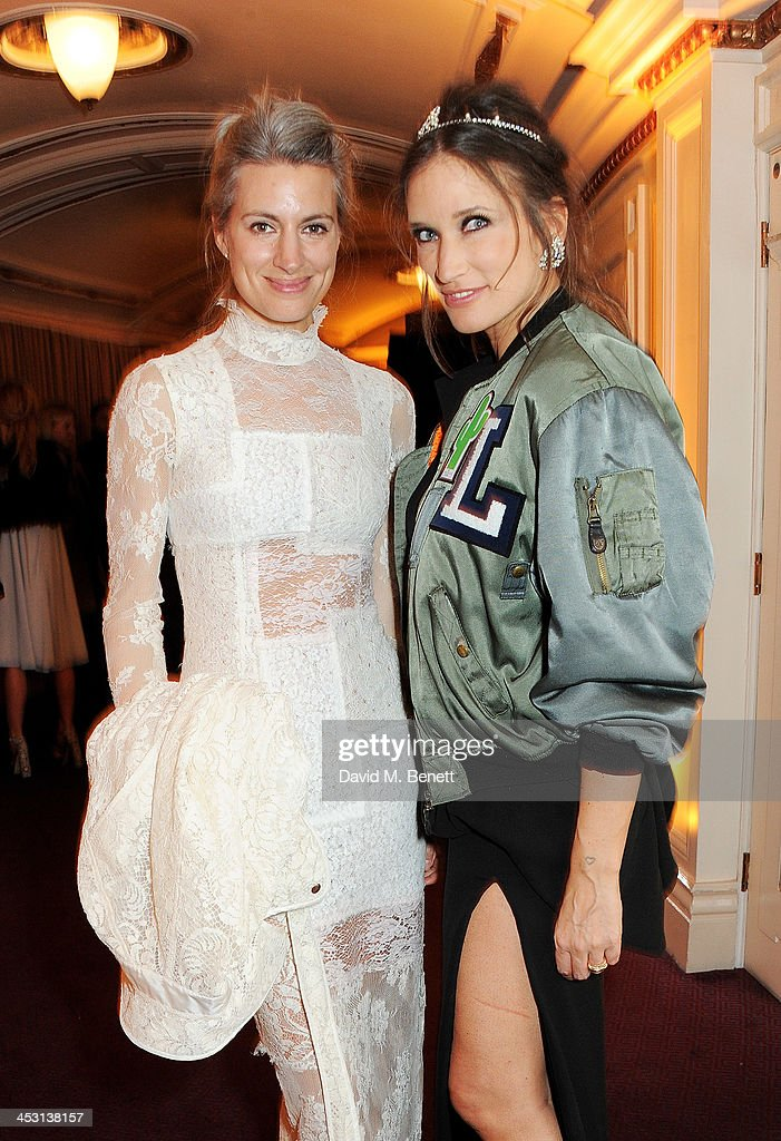 Sarah Harris and Lulu Kennedy attend the British Fashion Awards 2013 drinks reception at the London Coliseum on December 2 2013 in London England