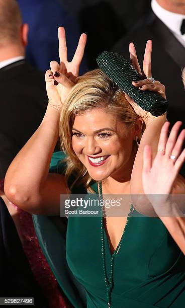 Sarah Harris arrives at the 58th Annual Logie Awards at Crown Palladium on May 8 2016 in Melbourne Australia