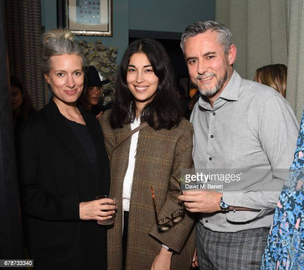 Sarah Harris Caroline Issa and Hubert Zandberg attend an intimate cocktail party hosted by Talitha's Kim Hersov and Shon Randhawa to celebrate the...