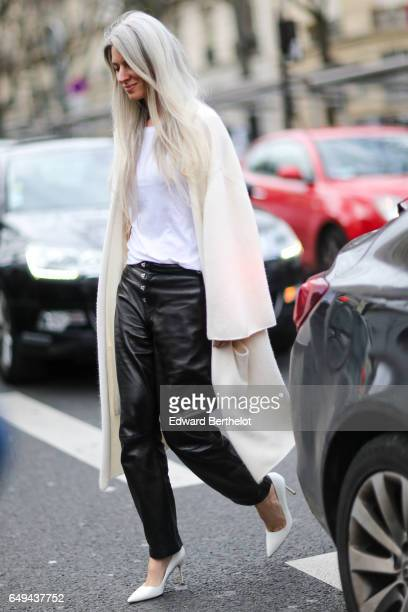 Sarah Harris is seen outside the Ellery show during Paris Fashion Week Womenswear Fall/Winter 2017/2018 on March 7 2017 in Paris France