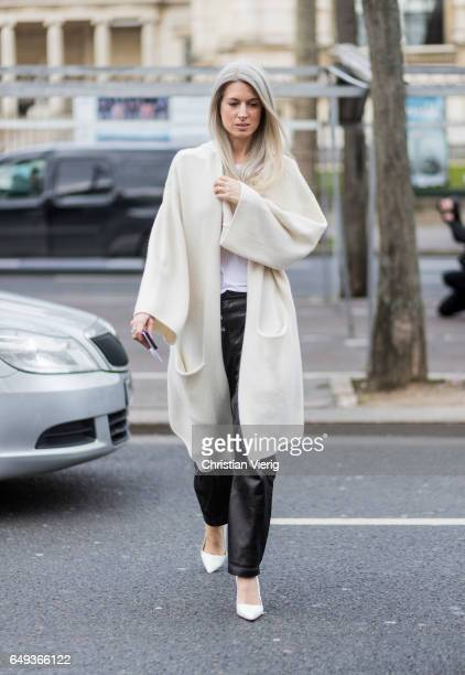 Sarah Harris outside Ellery on March 7 2017 in Paris France