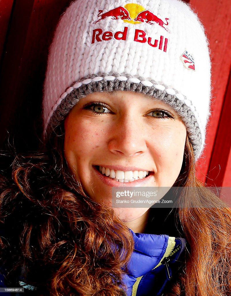 Sarah Hendrickson of the USA Women's Ski Jumping Team poses on December 15, 2012 in Ramsau, Austria.