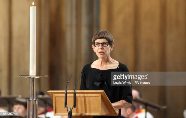 Sarah Hillary during the service of Thanksgiving for the life of Sir Edmund Hillary at St George's Chapel Windsor