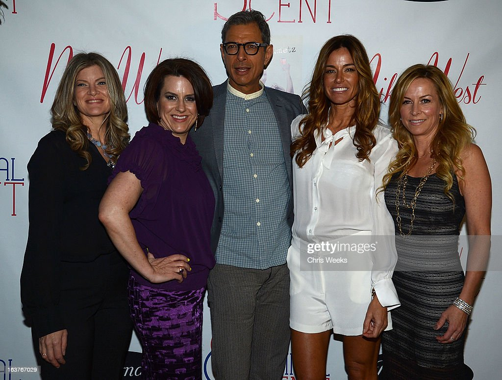 Sarah Horowitz, Marley Majcher, actor Jeff Goldblum and reality television personality Kelly Bensimon attend the Original Scent launch at Nikki West Boutique on March 14, 2013 in Pasadena, California.