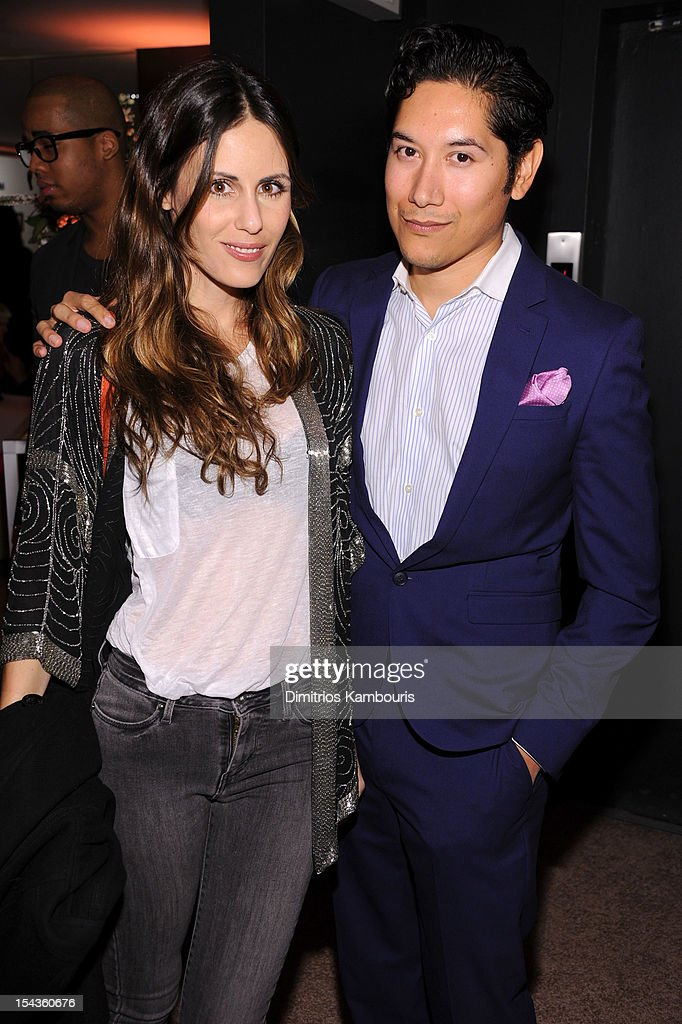 Sarah Howard (L) and Carlos Lopez attend the Vogue Eyewear and CFDA unveiling of the 'Emma' sunglass with Nanette Lepore and <a gi-track='captionPersonalityLinkClicked' href=/galleries/search?phrase=Emma+Roberts&family=editorial&specificpeople=226535 ng-click='$event.stopPropagation()'>Emma Roberts</a> at Sunglass Hut on October 18, 2012 in New York City.