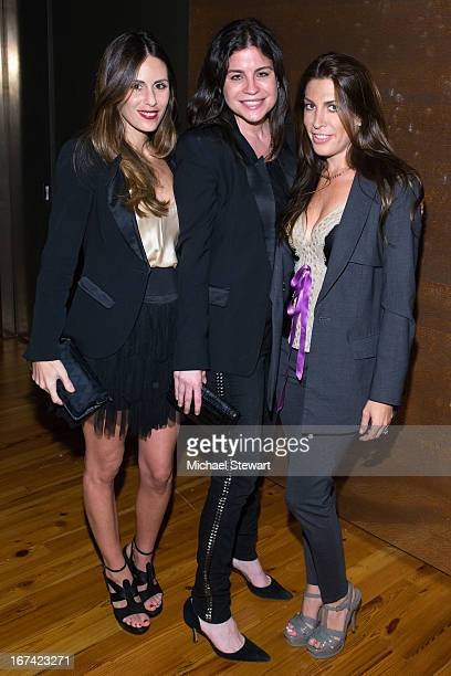 Sarah Howard Lauren Tabach and Jessica Meisels attend Alvin Valley 'Belle De Jour' Intimate Dinner Party on April 24 2013 in New York City