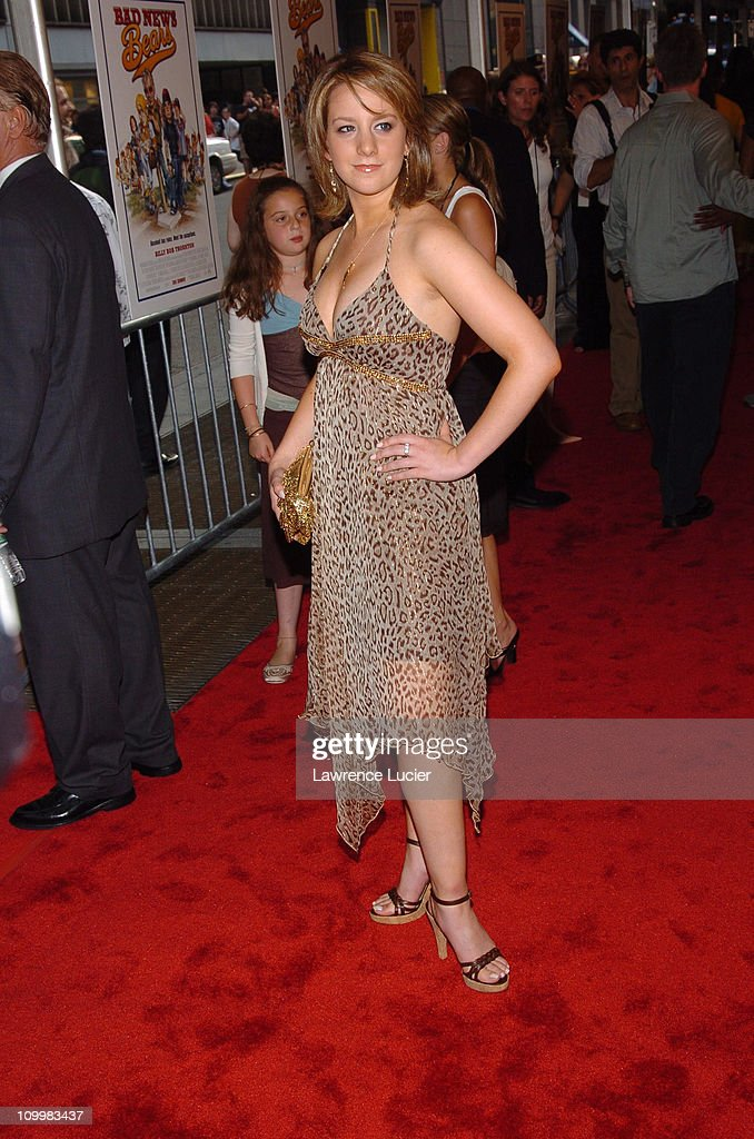 Sarah Hughes during Bad News Bears New York City Premiere Arrivals at Ziegfeld Theatre in New York City New York United States