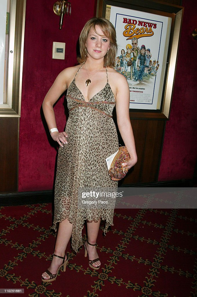 Sarah Hughes during 'Bad News Bears' New York City Premiere Inside Arrivals at Ziegfeld Theater in New York City New York United States