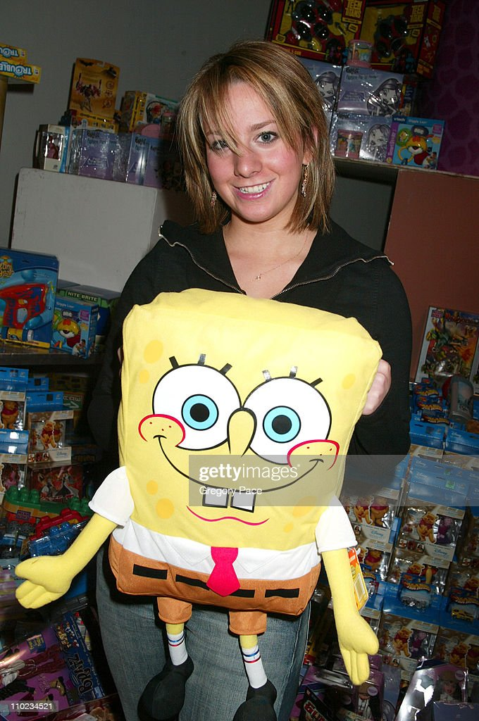 Sarah Hughes poses with SpongeBob SquarePants toy during 12th Annual Kids for Kids Celebrity Carnival to Benefit the Elizabeth Glaser Pediatric AIDS...