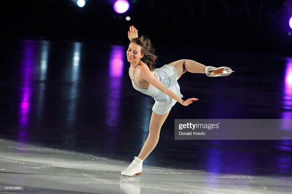 Sarah Hughes skates during A Salute To The Golden Age Of American Skating show at Boardwalk Hall Arena on December 11, 2010 in Atlantic City, New Jersey.