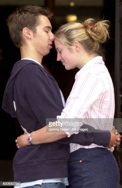 Sarah Hunt is consoled St Dunstan's College in Catford southeast London by her boyfriend Matt Taylor after intially failing to find the result of her...
