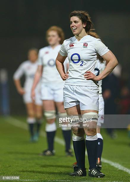 Sarah Hunter of England women during the Womens Six Nations match between France women and England women at Stade de la Rabine on March 18 2016 in...