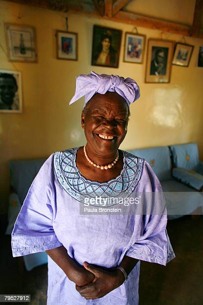 Sarah Hussein Obama the grandmother of US Presidential candidate Barack Obama poses in her home awaiting the results of Super Tuesday's primary...