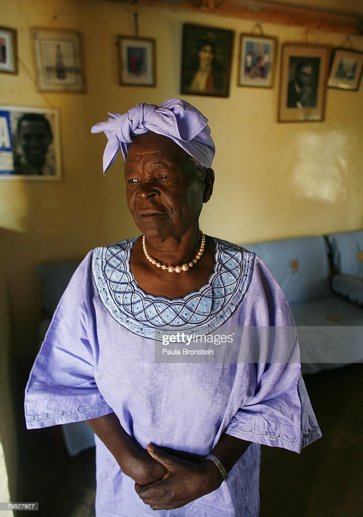 Sarah Hussein Obama, 86, the grandmother of US Presidential candidate Barack Obama, poses in her home awaiting the results of Super Tuesday's primary February 5, 2008 in Kogelo, Kenya. As the majority of states vote in the primary elections for the presidential candidates on 'Super Tuesday', today is an important date in the presidential candidacy race for Barack Obama, who hopes to secure the Democratic Party's nomination over his rival, Hillary Clinton.