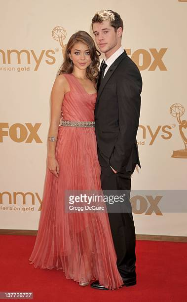 Sarah Hyland and Matt Prokop arrive at the Academy of Television Arts Sciences 63rd Primetime Emmy Awards at Nokia Theatre LA Live on September 18...