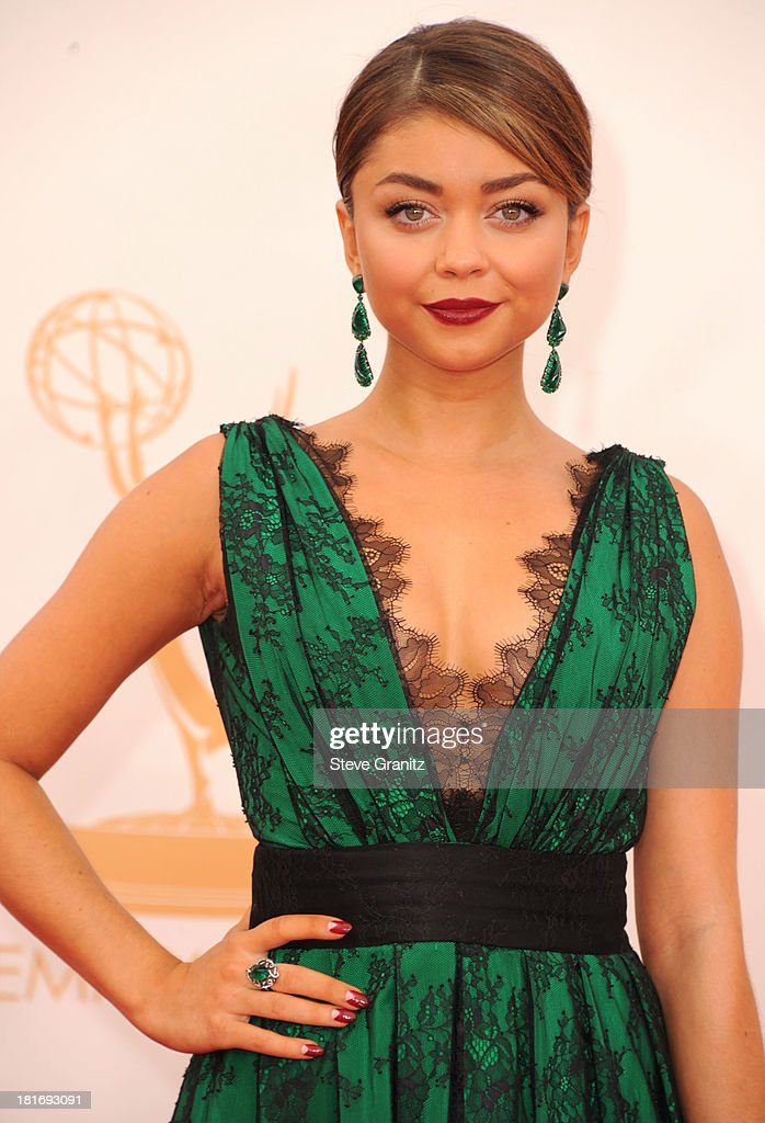 Sarah Hyland arrives at the 65th Annual Primetime Emmy Awards at Nokia Theatre L.A. Live on September 22, 2013 in Los Angeles, California.