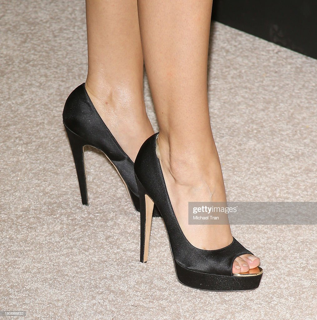 Sarah Hyland (shoe detail) arrives at the Audi and Altuzarra EMMYs week 2013 kick-off party held at Cecconi's Restaurant on September 15, 2013 in Los Angeles, California.