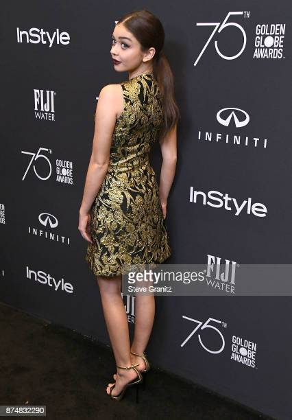 Sarah Hyland arrives at the Hollywood Foreign Press Association And InStyle Celebrate The 75th Anniversary Of The Golden Globe Awards at Catch LA on...
