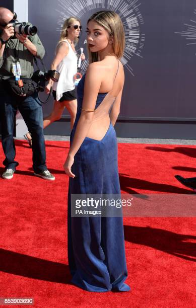 Sarah Hyland arriving at the MTV Video Music Awards 2014 at The Forum in Inglewood Los Angeles