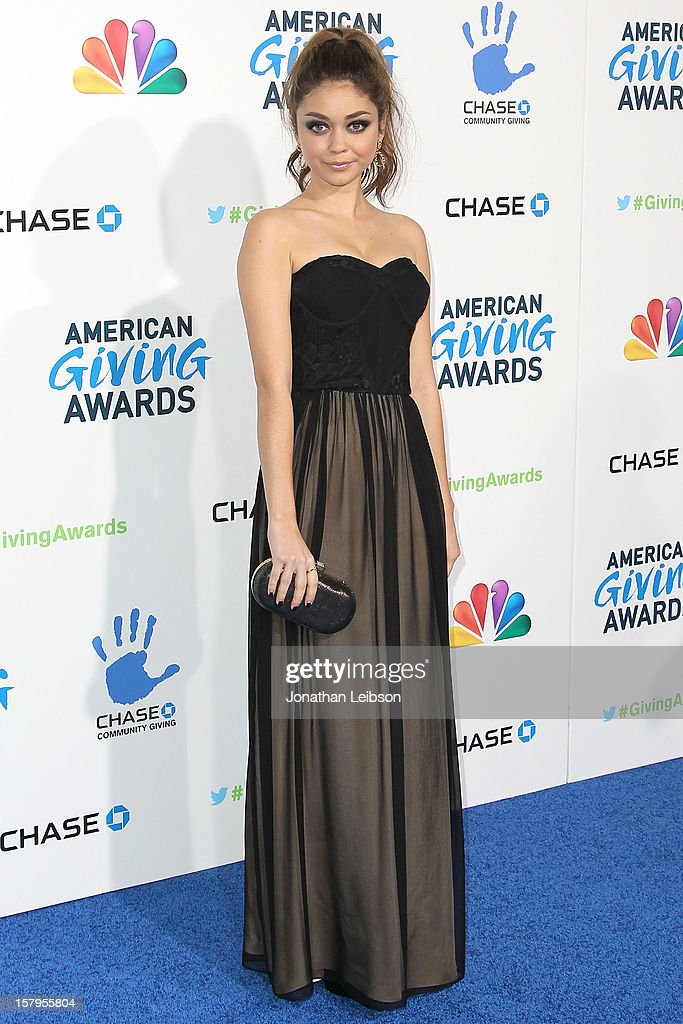 Sarah Hyland atetnds the 2nd Annual American Giving Awards - Arrivals at Pasadena Civic Auditorium on December 7, 2012 in Pasadena, California.
