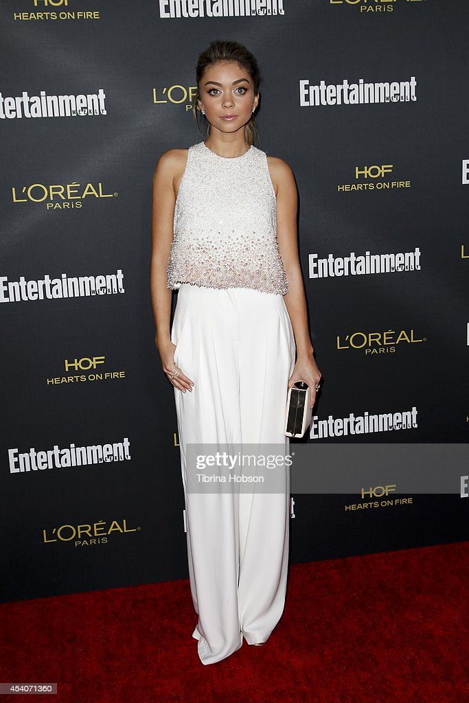 Sarah Hyland attends Entertainment Weekly's Pre-Emmy party at Fig & Olive Melrose Place on August 23, 2014 in West Hollywood, California.