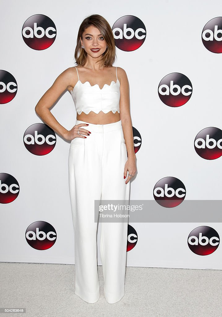 Sarah Hyland attends the Disney/ABC 2016 Winter TCA Tour at Langham Hotel on January 9 2016 in Pasadena California