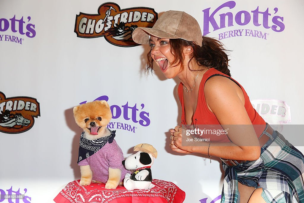 Sarah Hyland attends the GhostRider Reopening at Knott's Berry Farm on June 4 2016 in Buena Park California
